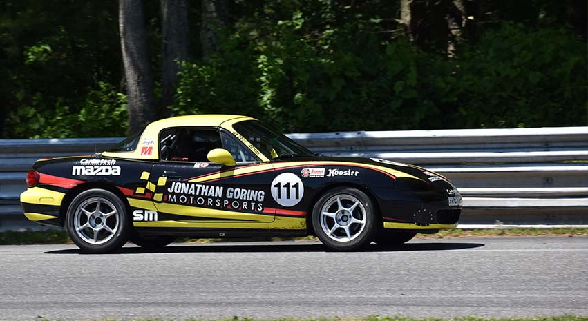 jonathan goring wins the SCCA 2019 paddock crawl race at lime rock park